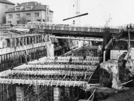 Staveniště stanice Kačerov 9. března 1972, foto archiv DPP