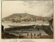 Martin Teiczek, Pohled na Petřín kolem r. 1830, rytina, foto Muzeum hlavního města Prahy