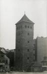 Vodárenská věž u Nových mlýnů na anonymním snímku zhruba z počátku 20. století