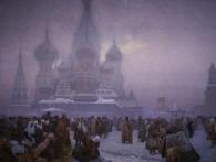 Zrušení nevolnictví na Rusi (1861), 1914, vaječná tempera, olej, plátno, 610 x 810 cm, foto GHMP