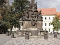 Historii Mariánského sloupu na Hradčanském náměstí připomíná panelová výstava, foto Galerie hlavního města Prahy