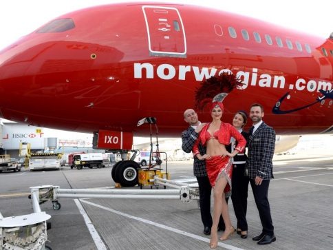 Do Las Vegas letecky s Norwegian, inaugurační let, foto Norwegian Air Shuttle ASA