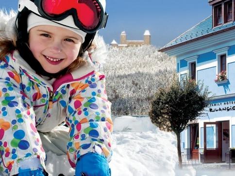 Zimní dovolená na Šumavě spojená s odpolední lyžařskou školou