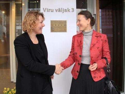 Z leva: Hotelstars Union prezidentka Gabriella Esselbrugge a Renata Martinčič, generální ředitelka slovinského