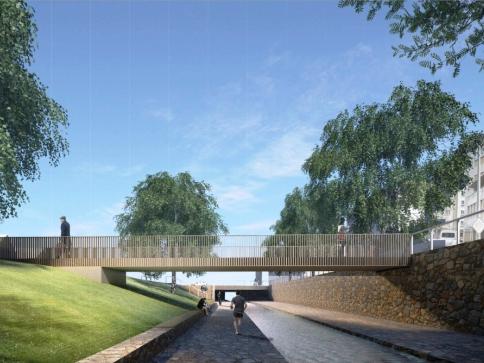 Revitalizace libeňského Elsnicova náměstí proběhne v roce 2018, Vizualizace FAM Architekti.