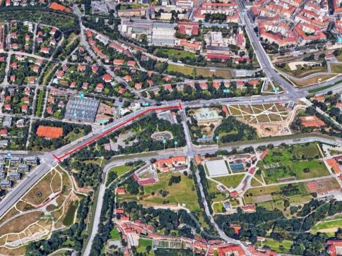 Pokračuje rekonstrukce ulice Patočkova, směr do centra, foto: tsk-praha.cz