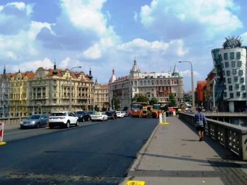 Plně průjezdný Jiráskův most, foto: Technická správa komunikací hl. m. Prahy, a.s.