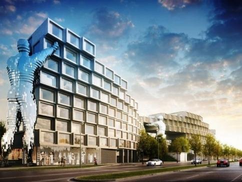 Prahu promění inovativní budova Nové Invalidovny se sochami Davida Černého, foto: trigema.cz