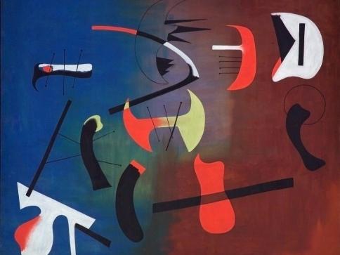 Foto: Národní galerie Praha, Joan Miró, Kompozice, 1933