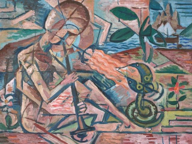 Bohumil Kubišta: Fakír krotící hady, foto Národní galerie Praha