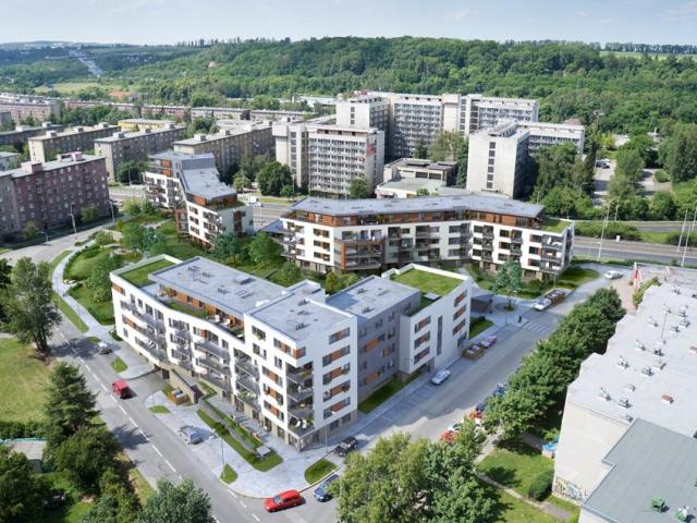 Park Hloubětín: první budova největšího českého pasivního projektu má hrubou stavbu, foto JRD