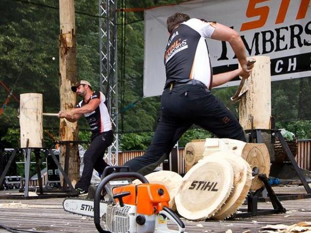 III. ročník Svátku dřeva opět nabídne unikátní soutěž dřevorubeckých týmů, foto Jan Novotný