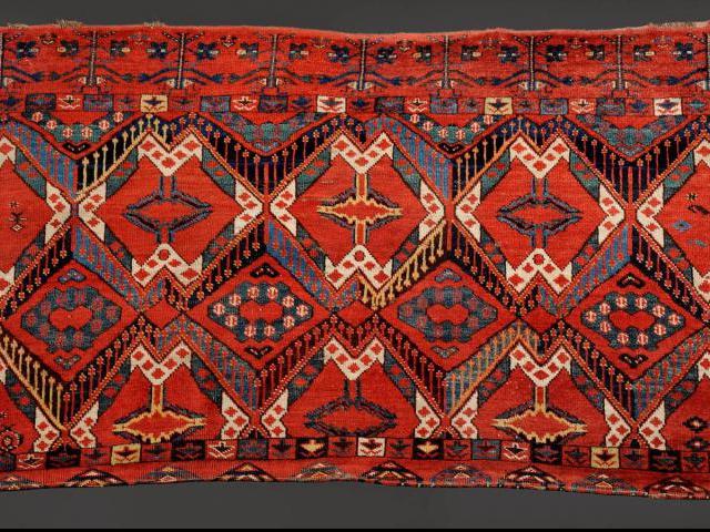 Červená Lhota - chordžin, původně kryt přepravní tašky z emirátu Buchara, foto NPÚ