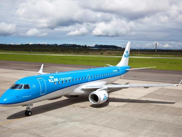 Titul NEJTIŠŠÍ DOPRAVCE na pražském letišti získala za rok 2014 společnost KLM Royal Dutch Airlines, foto KLM