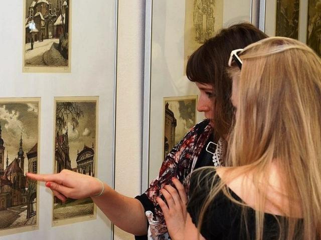 Výstava k 100. výročí narození malíře a grafika Vojtěcha Kubašty, foto Národní knihovna