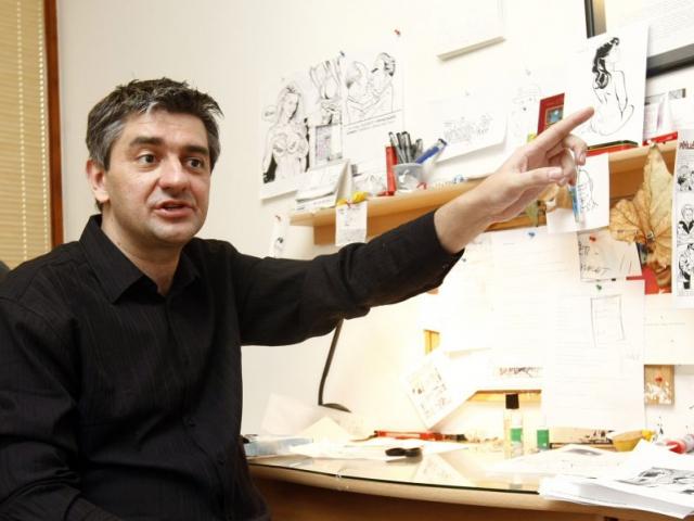 Ještě několik dní potrvá výstava Zelený Raoul z tvorby ilustrátora Štěpána Mareše, foto Štěpán Mareš