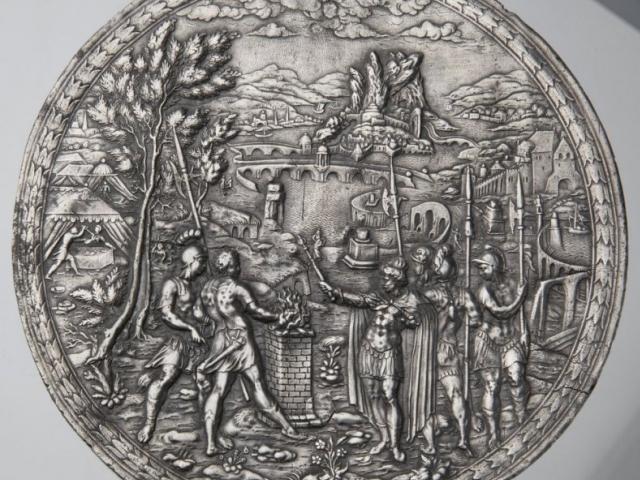 Vianen, cínová plaketa, foto Muzeum hlavního města Prahy