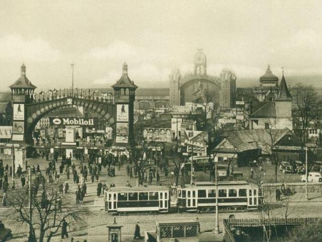 Pražské vzorkové veletrhy na Výstavišti, kolem 1935, foto Muzeum hlavního města Prahy