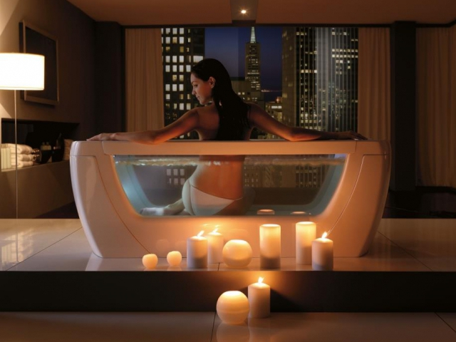 I v domácím prostředí je možné regenerovat tělo jako v lázních. Stačí do koupele přidat ty správné látky a ozdravnou kúru můžete podstoupit ve vlastní koupelně. Foto Keramika Soukup a.s.