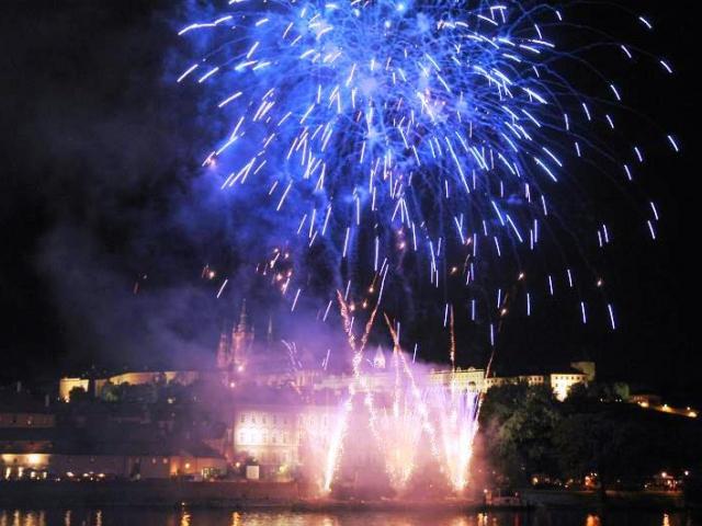 Novoroční ohňostroj pro Prahu bude odpálen stejně jako v loňském roce z prostoru Letenských sadů. Foto Magistrát hlavního města Prahy