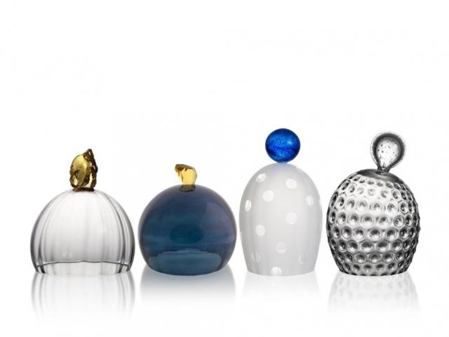 Veronika Černá se zabývá hutním tvarováním skla, volnou plastikou, navrhováním užitých předmětů a šperků, foto Muzeum umění Olomouc