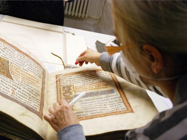 Národní knihovna České republiky vystaví nejstarší a nejcennější knihu - Kodex vyšehradský. Foto Národní knihovna ČR
