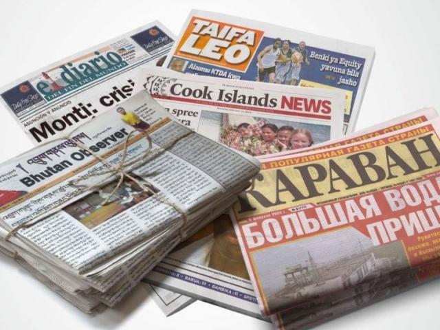 Zveme vás na jedinečnou výstavu Noviny ve světě aneb svět v novinách do Baťova institutu ve Zlíně, foto Baťův Institut