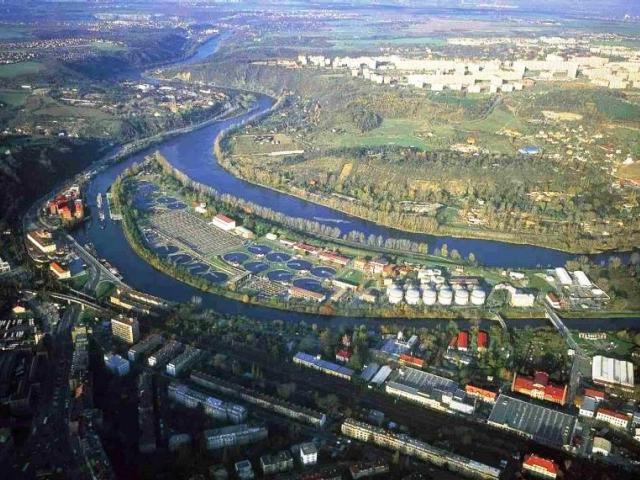 Ústřední čistírna odpadních vod na Císařském ostrově, foto Magistrát hl. města Prahy