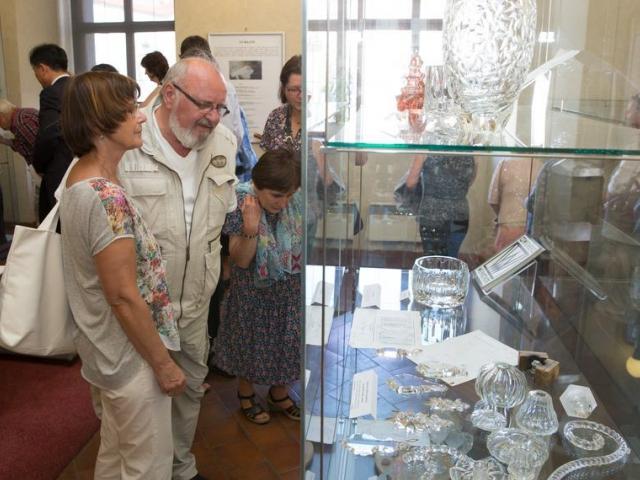 Expozice Výstava Sklo - řemeslo - umění v Senátu, foto Senát Parlamentu České republiky