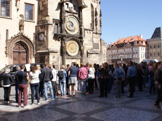 Sochy orloje Staroměstské radnice projdou pravidelnou údržbou, foto Praha Press