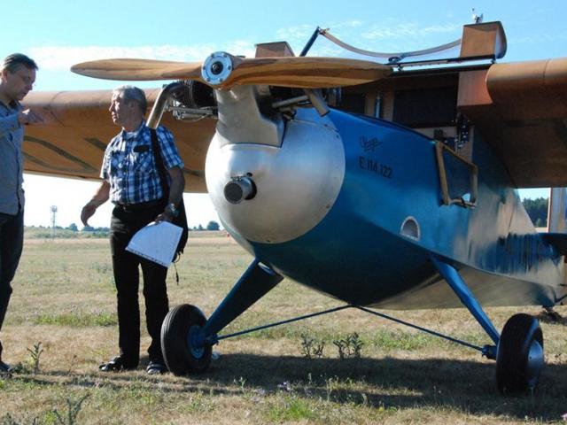 Zrekonstruovaný letoun Praga E. 114 Air Baby, foto Letiště Letňany
