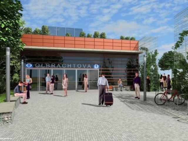 Praha vypíše architektonickou soutěž na moderní design stanice nového metra D, vizualizace DPP