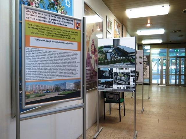 Výstava návrhů studentů ČVUT v KD Krakov, foto ÚMČ Praha 8