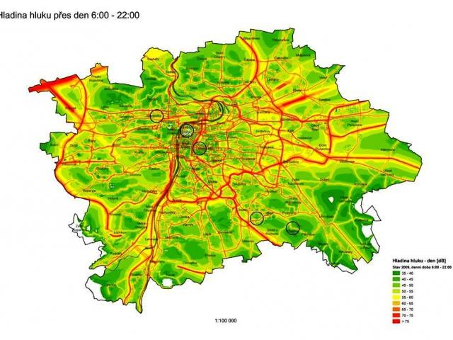 Hluková mapa Prahy, foto IPR Praha