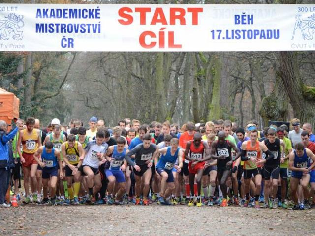 Běžecké závody v Oboře Hvězda pro studenty i veřejnost, foto ÚTVS ČVUT