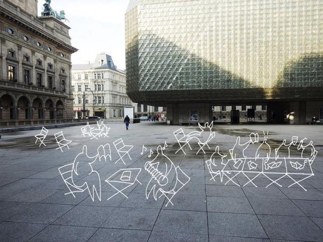 Nové městské židle a stolky oživí běžná prostranství, foto IPR Praha