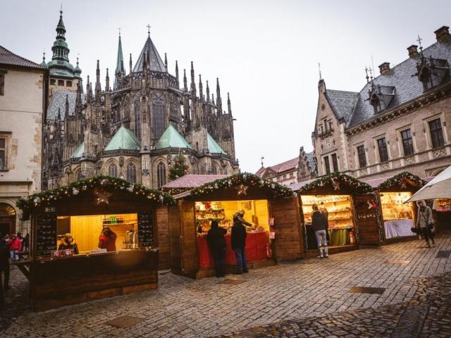 Na Pražském hradě se konají vánoční trhy, foto ASTACUS, s.r.o.