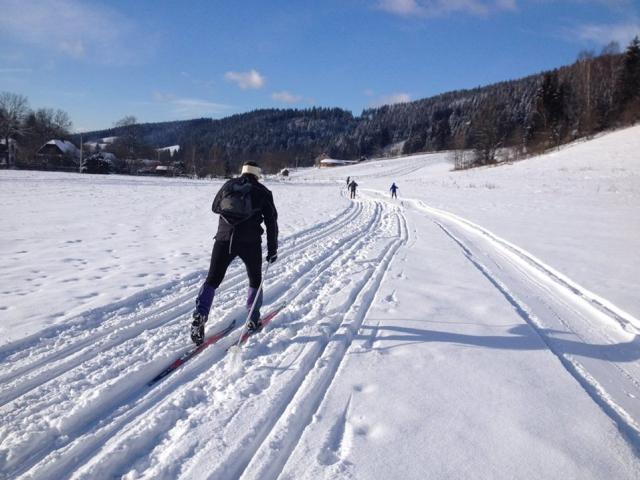 Vyzkoušejte upravené stopy pro běžkaře ve Velkých Karlovicích. Foto Resort Valachy