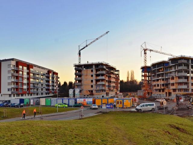 V Olomouci roste Holandská čtvrť s energeticky úspornými bytovými domy. Foto PSJ