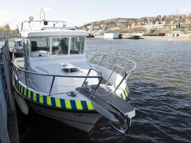 Pražští strážníci budou na Vltavě dohlížet z nové lodě. Foto Magistrát hl. m. Prahy