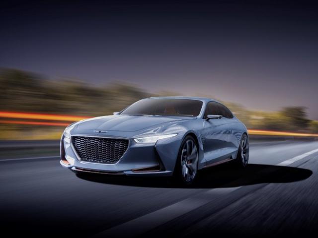 Nový sportovní sedan GENESIS byl odhalen na mezinárodním autosalonu NY 2016, foto Hyundai