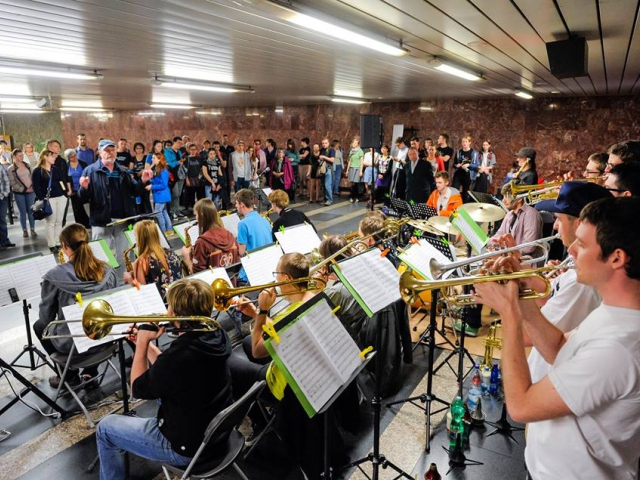 Ve čtvrtek se v metru rozezní hudba nejrůznějších žánrů. Foto Dopravní podnika hl. m. Prahy