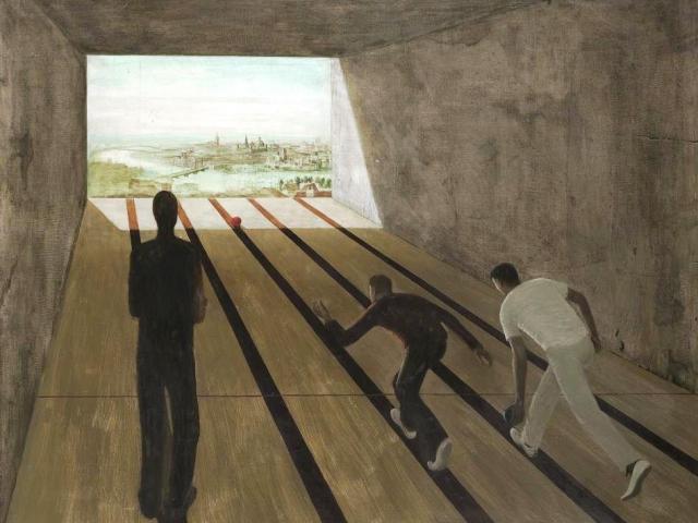 Mikuláš Rachlík, Kuželník, 1965, olej na plátně. Foto Galerie hlavního města Prahy