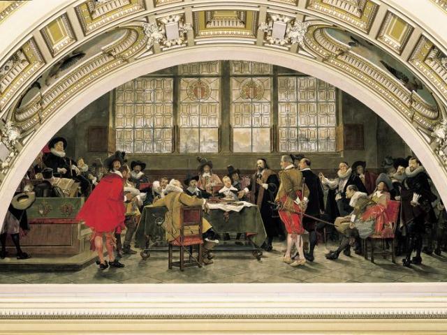 Obraz v Panteonu Historické budovy NM. Foto Národní muzeum