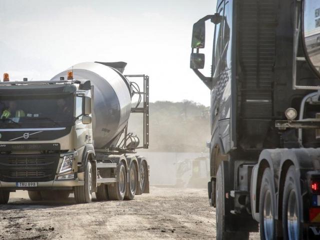 Volvo in Construction – Volvo Trucks předvedlo nové standardy v oblasti stavebnictví. Foto Volvo