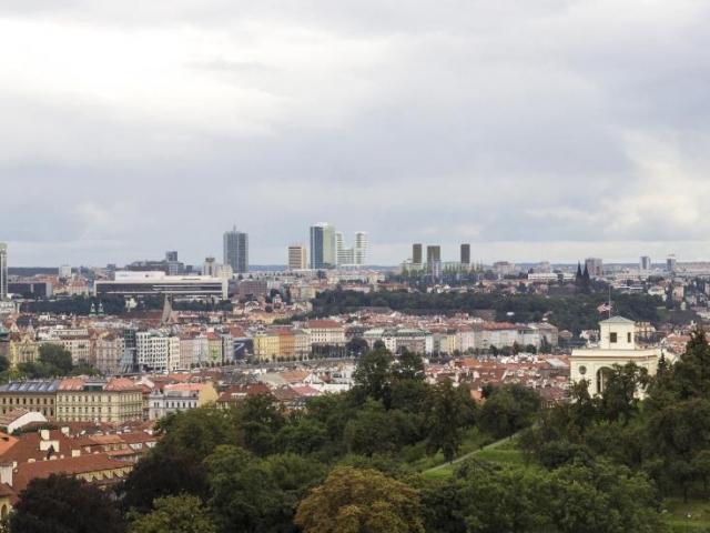Panorama Pankrácké pláně z Pražského Hradu, foto Central Group