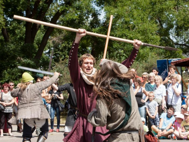 Přijďte se pobavit a podívat na připomínku velkolepé bitvy na Vítkově. Foto ÚMČ Praha 3