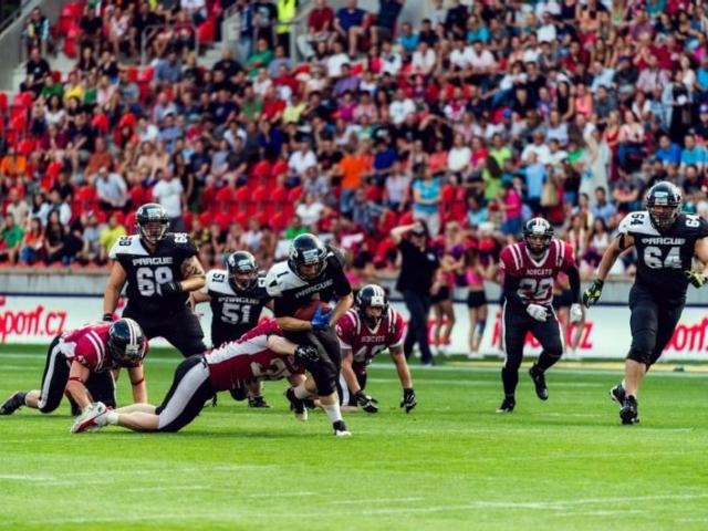 Zažijte jedinečnou atmosféru amerického fotbalu na stadionu Viktorky, foto ÚMČ Praha 3