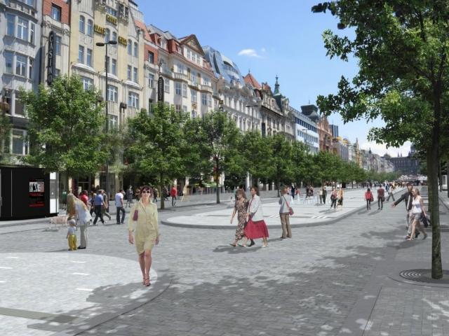 Kdy proběhne rekonstrukce Václavského náměstí? Foto Magistrát hl. m Prahy