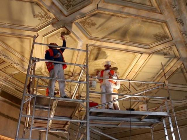 Pokračují stavební práce v Historické budově Národního muzea. Foto Národní muzeum